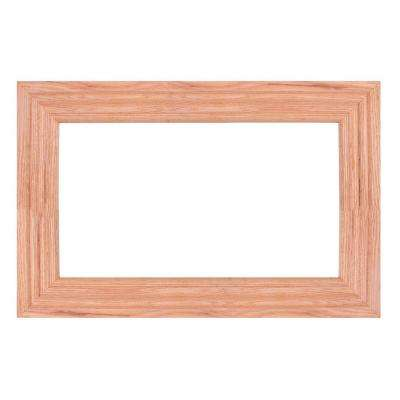 American Red Oak 30 in. x 36 in. Mirror Frame Kit in Stainable - Mirror Not Included