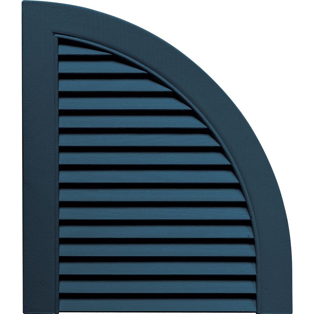 15 in. x 17 in. Louvered Design Classic Blue Quarter Round