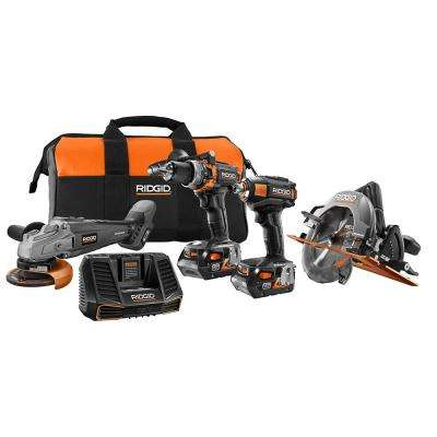 18-Volt Lithium-Ion Cordless Brushless Limited Edition 4-Tool Combo Kit with (2) 4.0Ah Batteries, Charger and Bag