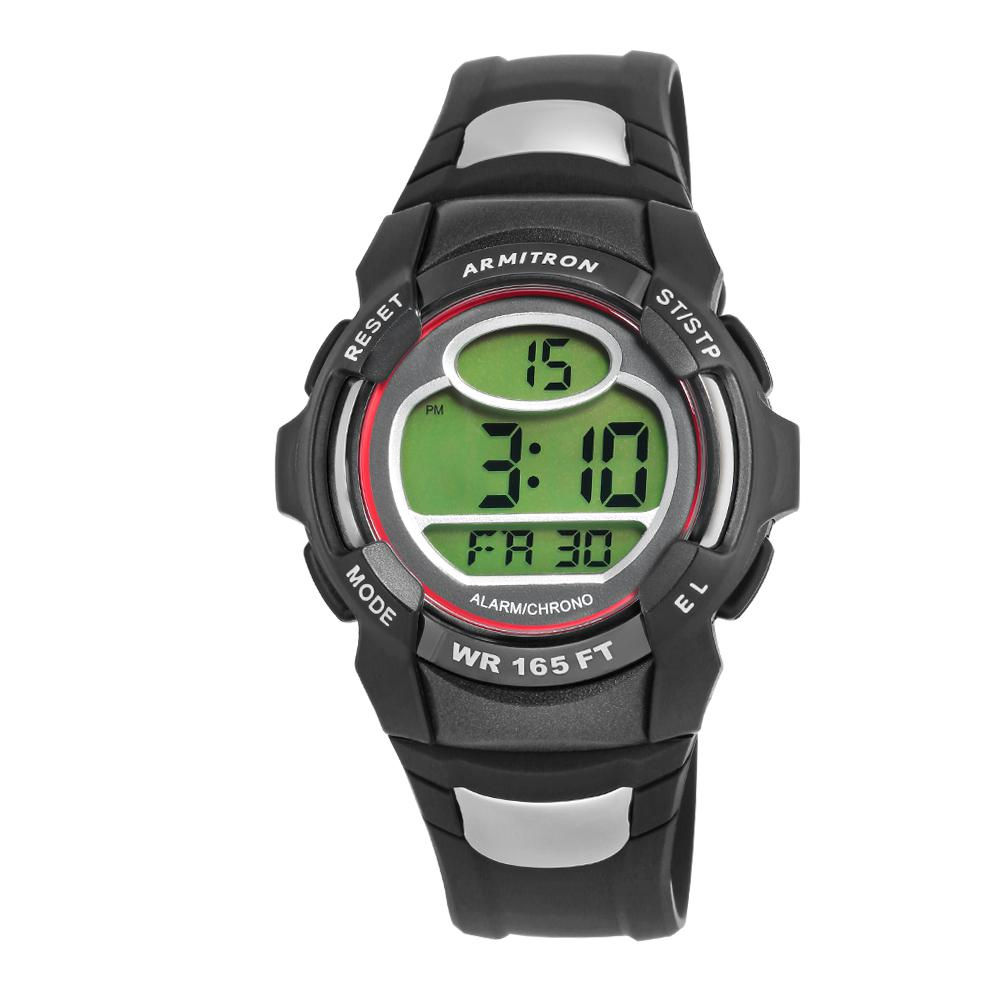 Pro Sport Red Accented Digital Chronograph Black Watch