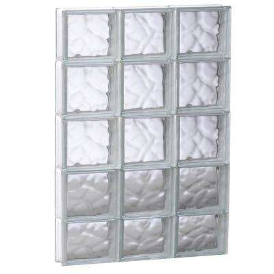 23.25 in. x 36.75 in. x 3.125 in. Non-Vented Wave Pattern Glass Block Window