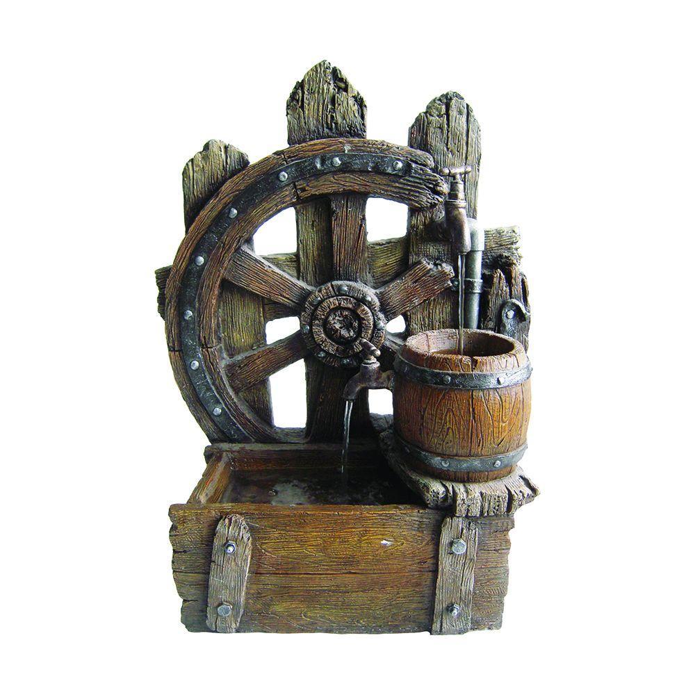 Beckett Wagon Wheel Fountain by Beckett