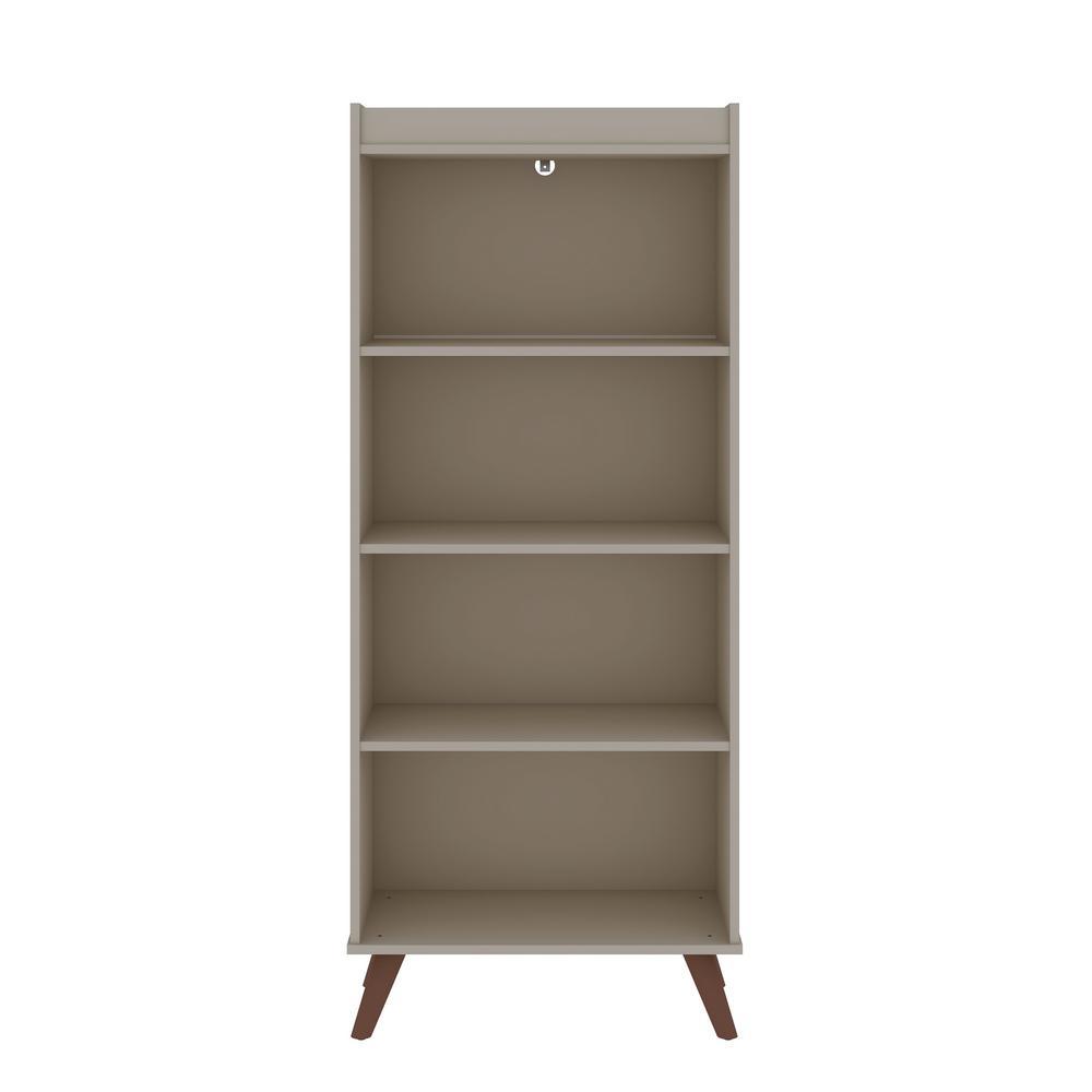 Hampton 60.12 in. Off-White 4-Shelf Bookcase