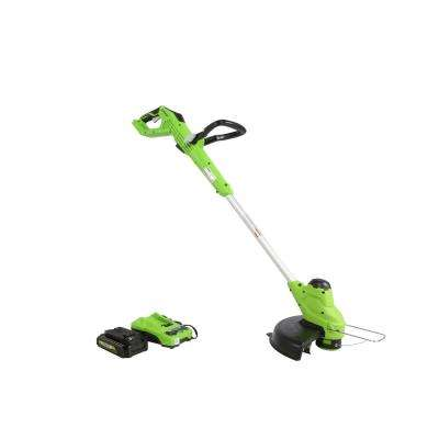 24-Volt 11 in. TORQDRIVE String Trimmer, 2Ah USB Battery and Charger Included ST24B214