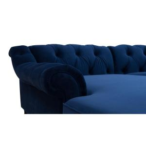 Astonishing Jennifer Taylor Alexandra Navy Blue Tufted Left Sectional Alphanode Cool Chair Designs And Ideas Alphanodeonline