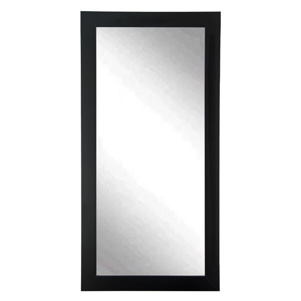 Modern Matte Black Tall  Framed Mirror