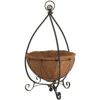14 in. Round Yorkshire Decorative Plant Stand with Coco Liner