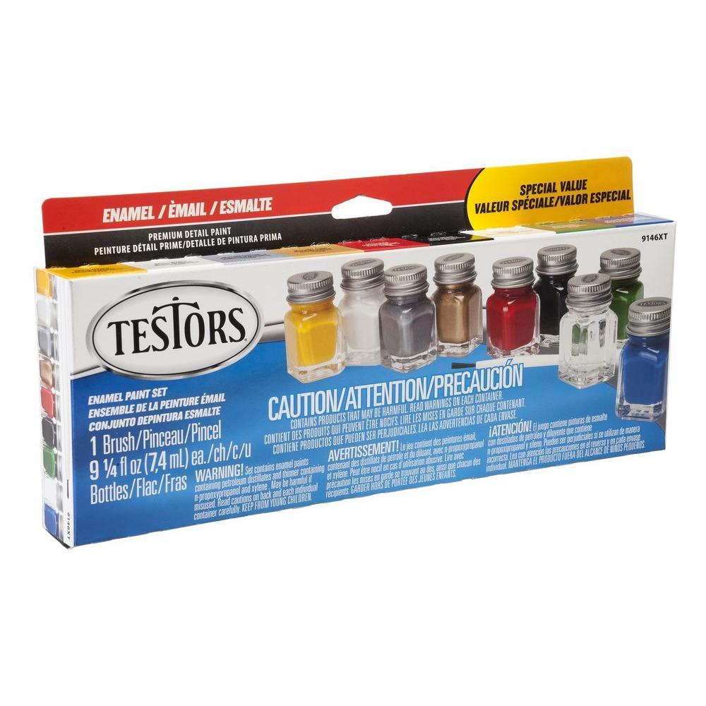 Testors 0 25 Oz 8 Color All Purpose Gloss Enamel Paint