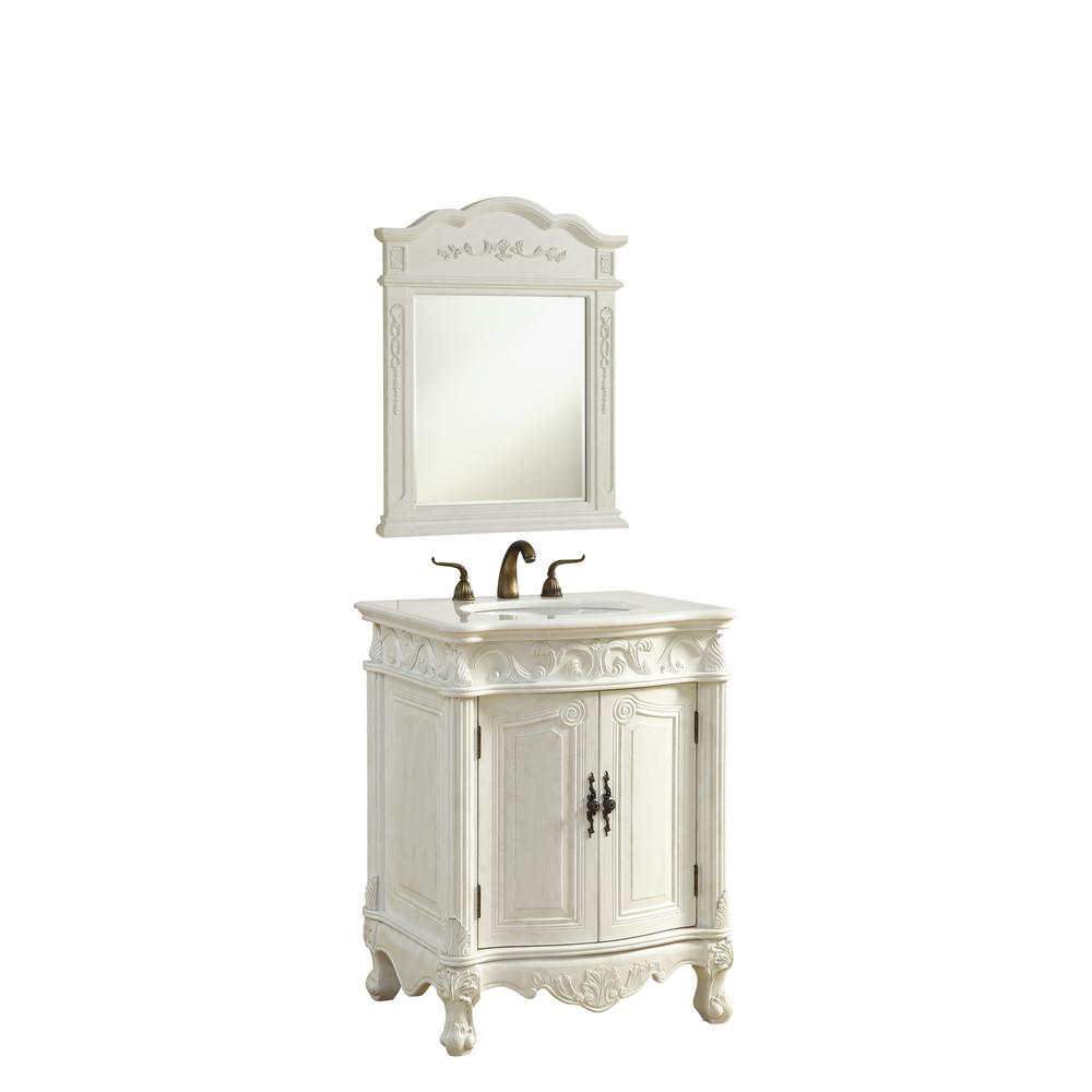Bathroom Vanities 2016: Abbott 27 In. Single Bathroom Vanity With 1-Shelf 2-Doors