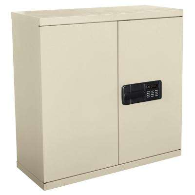 30 in. H x 30 in. W x 12 in. D Steel Wall Storage Cabinet in Putty