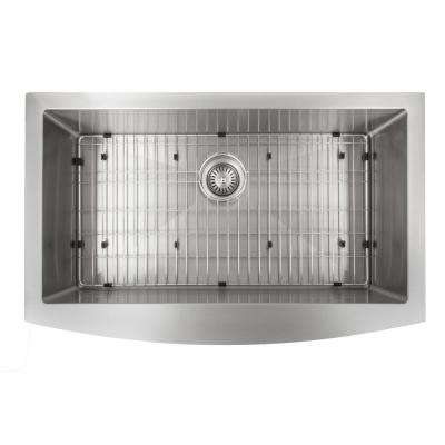 Farmhouse/Apron Stainless Steel 33 in. Single Bowl Kitchen Sink