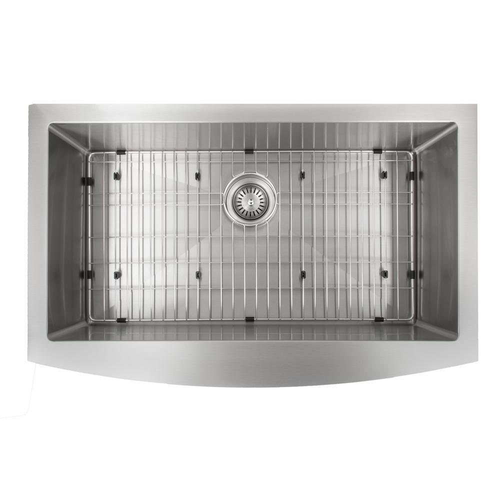 Farmhouse/Apron Stainless Steel 33 in. Single Bowl Kitchen Sink