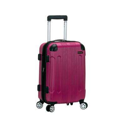 Rockland Expandable Sonic 20 in. Hardside Spinner Carry On Luggage, Magenta