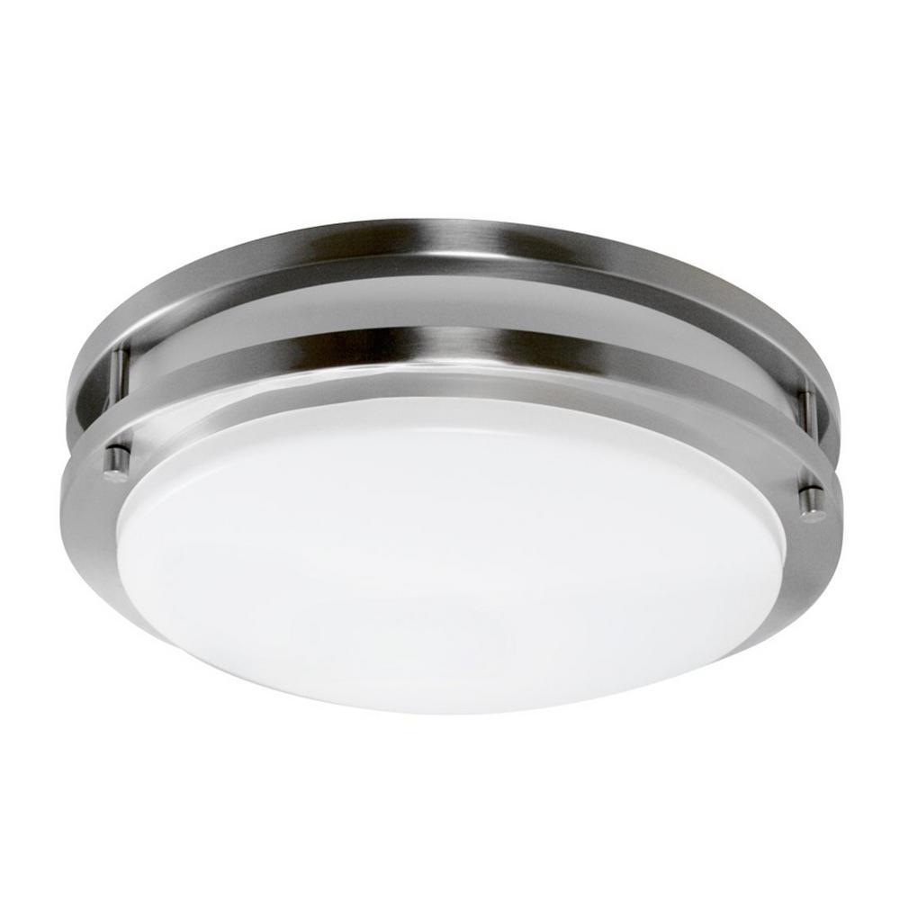 Y Decor 1-Light Satin Nickel Flushmount