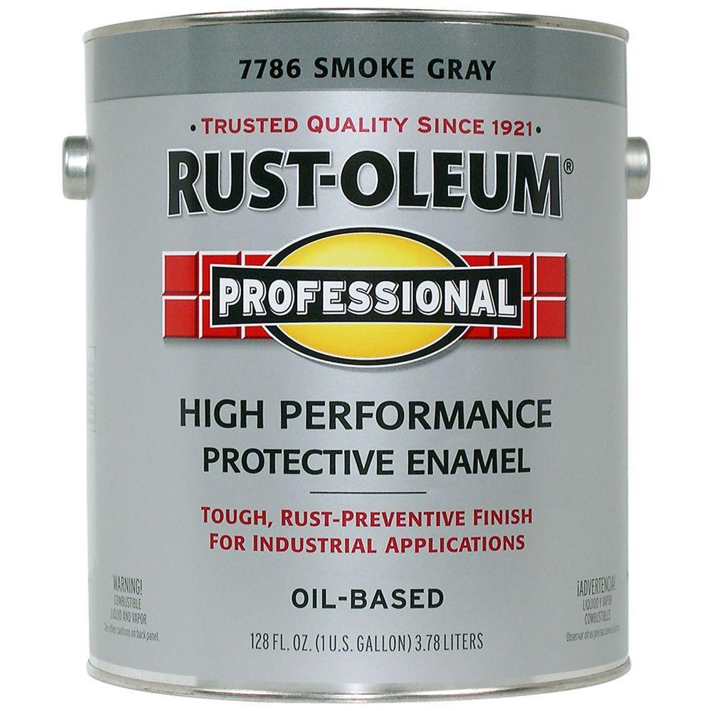 Rust-Oleum Professional Gloss Smoke Gray 1 Gallon Oil Based Enamel-DISCONTINUED