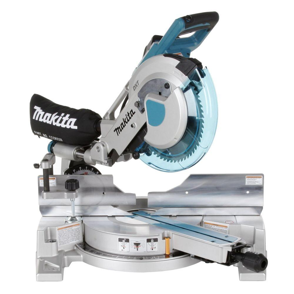 makita 15 amp 10 in corded double bevel sliding compound miter saw with 60t blade dust bag. Black Bedroom Furniture Sets. Home Design Ideas