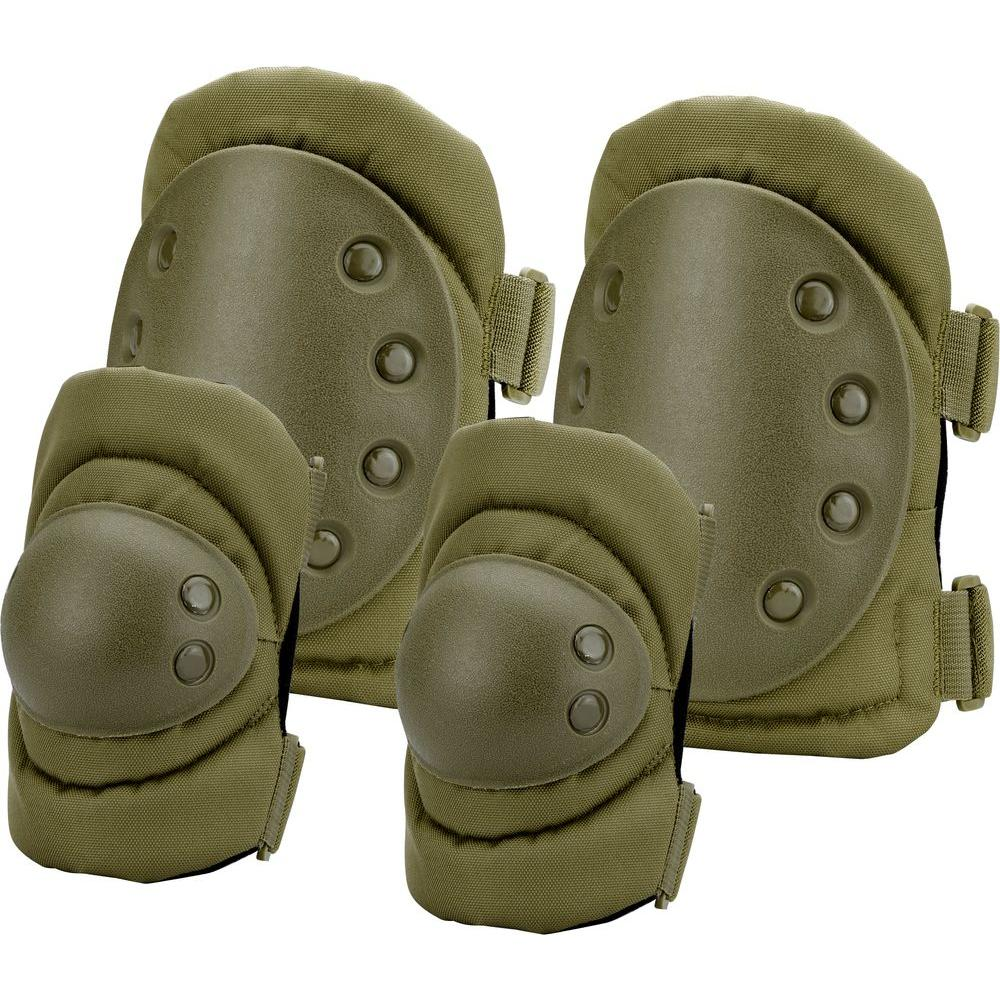 BARSKA Loaded Gear Olive Drab Green Polyester CX-400 Elbow and Knee Pads