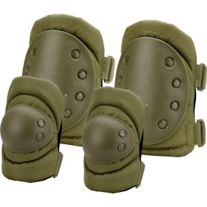 BARSKA Loaded Gear Olive Drab Green Polyester CX-400 Elbow and Knee Pads by BARSKA