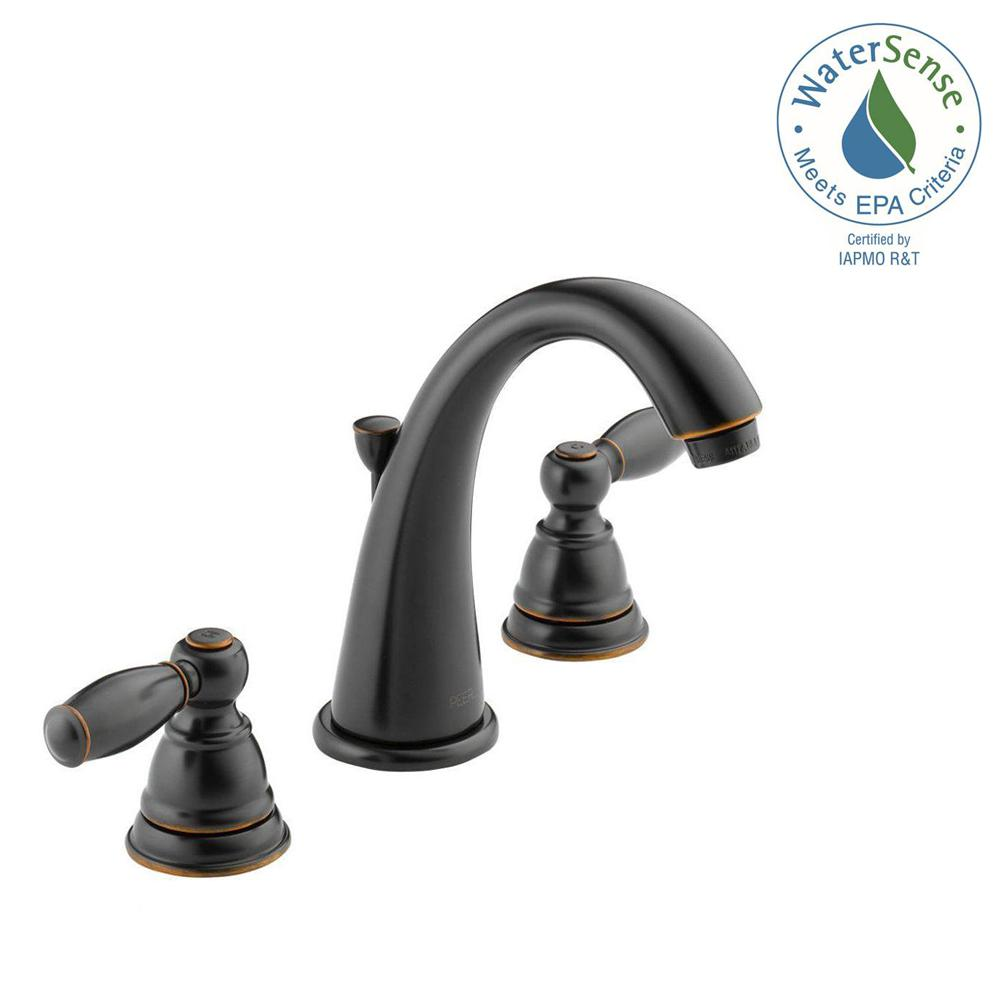 Peerless Apex 8 in. Widespread 2-Handle Bathroom Faucet in Oil ...