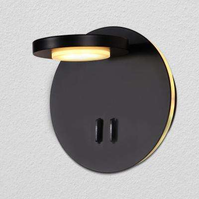 Tania 6.25 in. Black Integrated LED Sconce