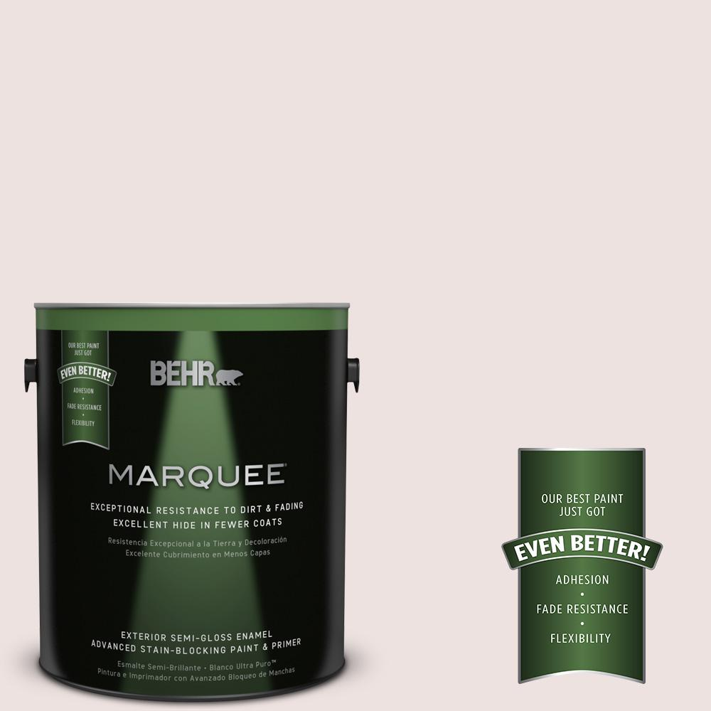 BEHR MARQUEE 1-gal. #140E-1 Patient White Semi-Gloss Enamel Exterior Paint
