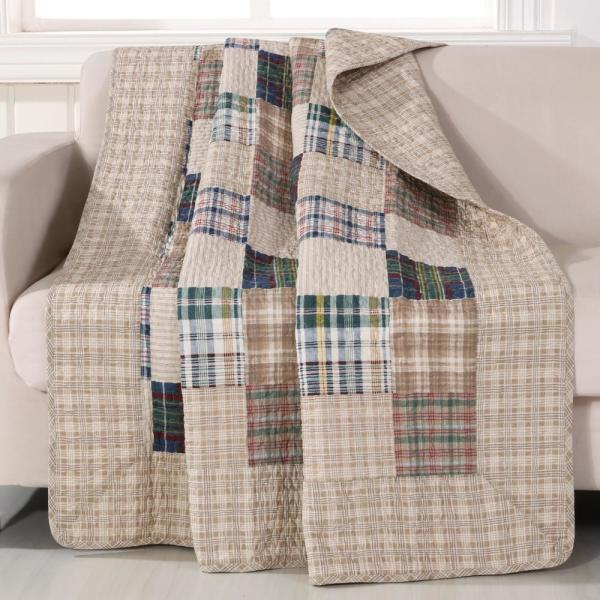 undefined Oxford Multi Quilted Cotton Throw