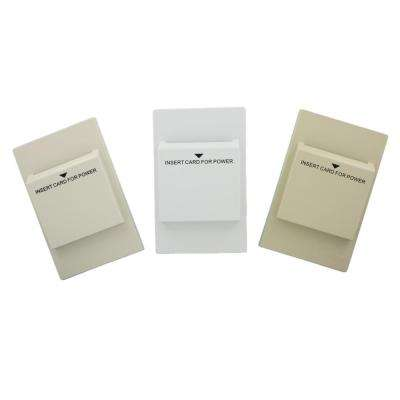 Hospitality Key Card Switch with Color Change Kit, White with Ivory and Light Almond Colors Included