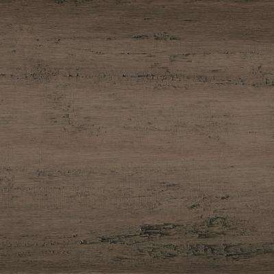 Take Home Sample - Hand Scraped Strand Woven Warm Grey Click Tile Bamboo Flooring - 5 in. x 7 in.