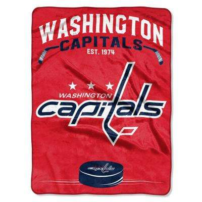Capitals Inspired Multi-Color Polyester Raschel Blanket