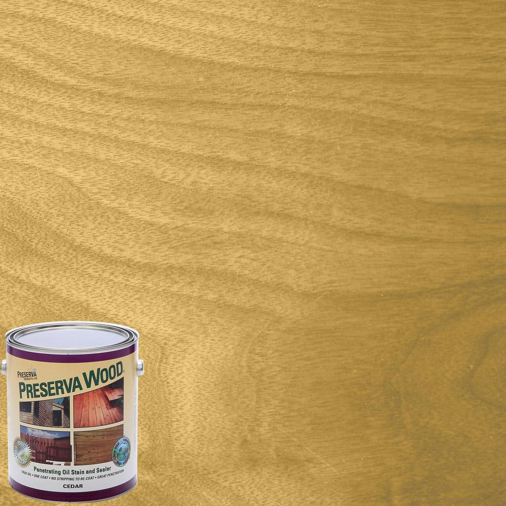 1 qt. Oil-Based Cedar Penetrating Exterior Stain and Sealer