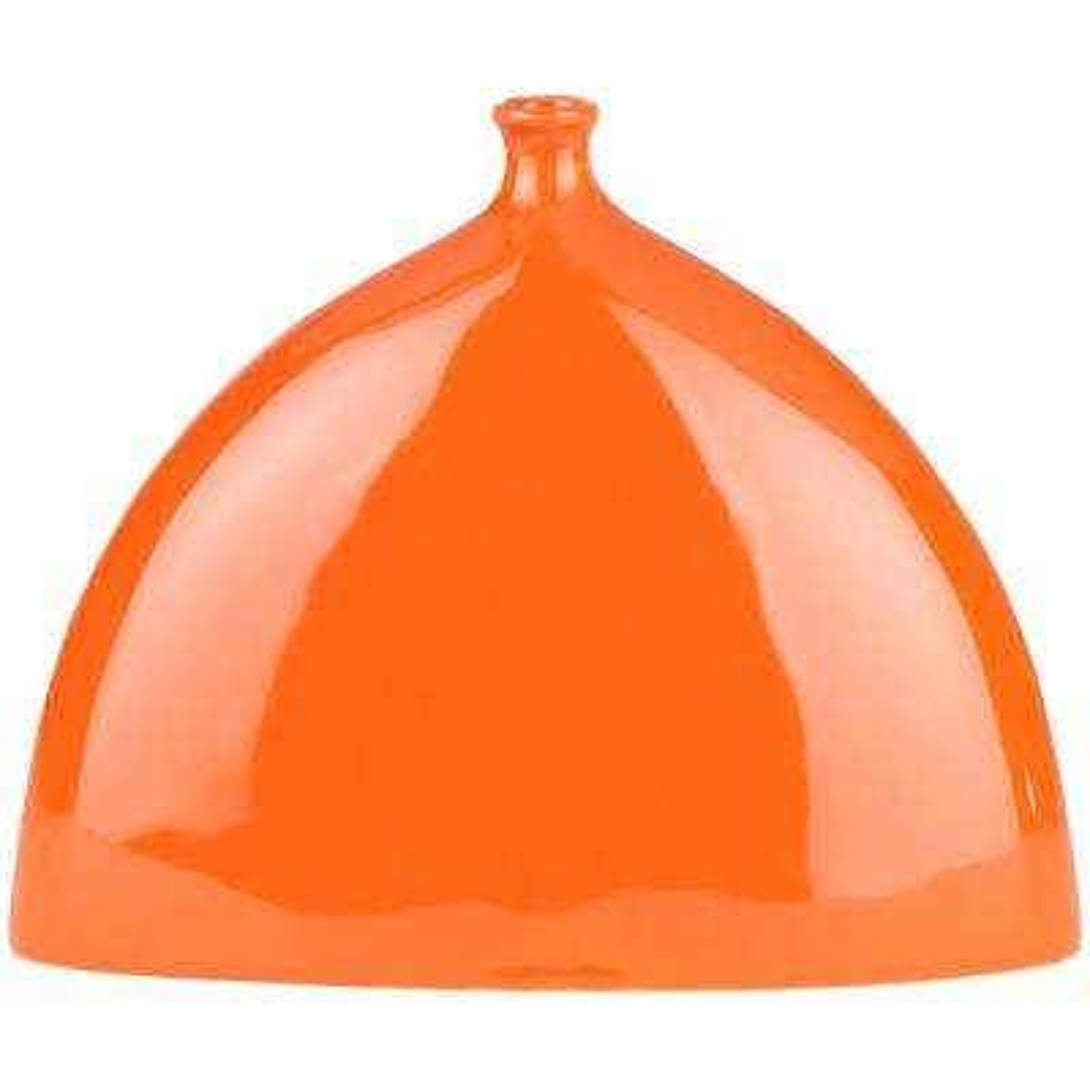 Chel 8.1 in. Orange Ceramic Decorative Vase
