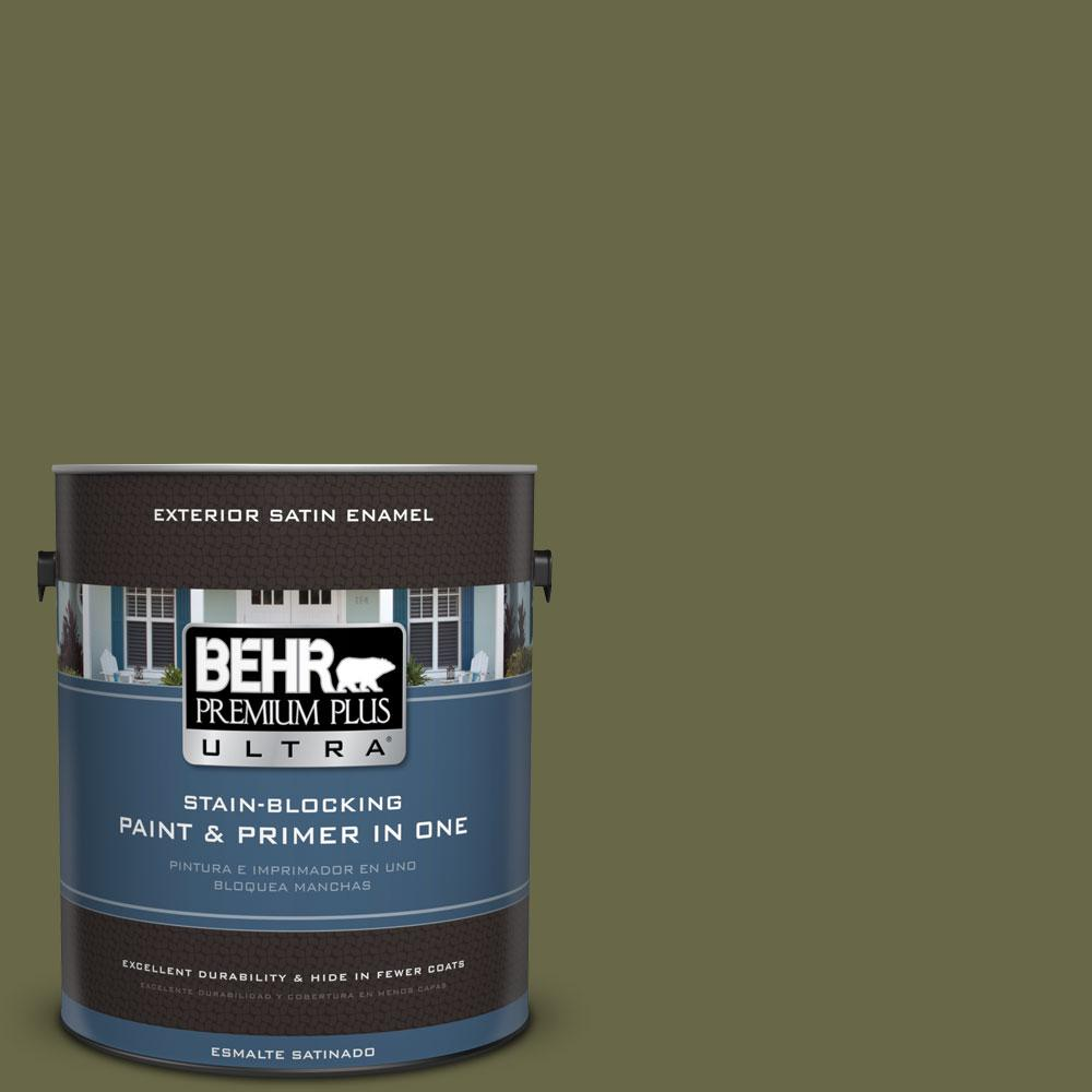 BEHR Premium Plus Ultra 1-gal. #PPU9-24 Amazon Jungle Satin Enamel Exterior Paint