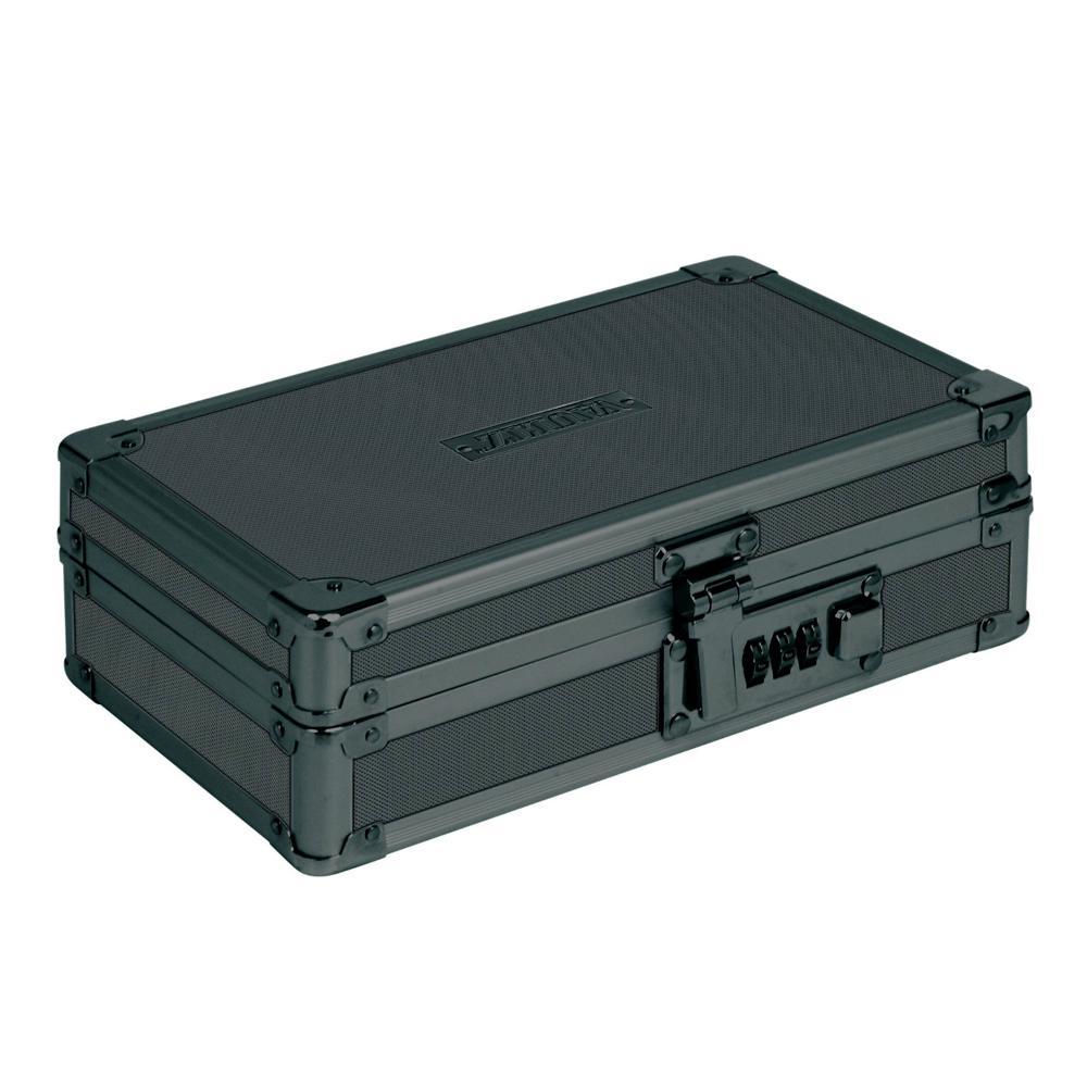 Locking Utility Box with Combination Lock, Black on Black