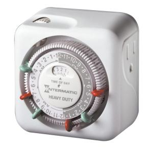 Intermatic 15 Amp Indoor Plug-In Dial Timer for Holiday Lights and Decorations, Grounded by Intermatic