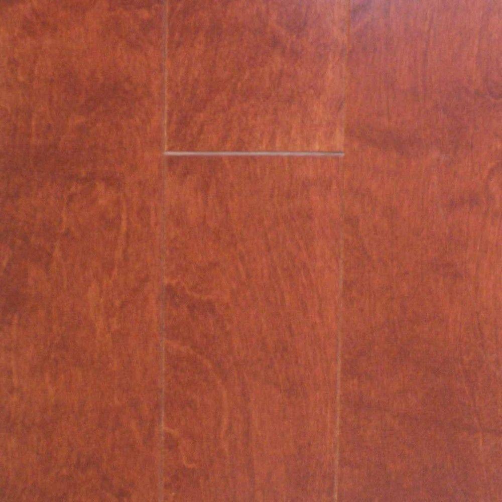 Take Home Sample - Birch Cognac Engineered Click Wood Flooring - 5 in. x 7 in.