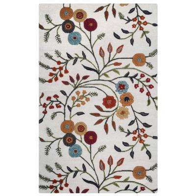 Dimensions Ivory/Multicolor 3 ft. x 5 ft. Rectangle Area Rug