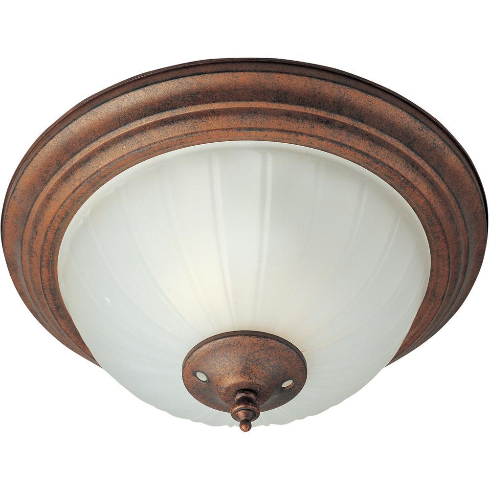 Basic-Max 2-Light Satin Nickel Ceiling Fan Bowl Light Kit