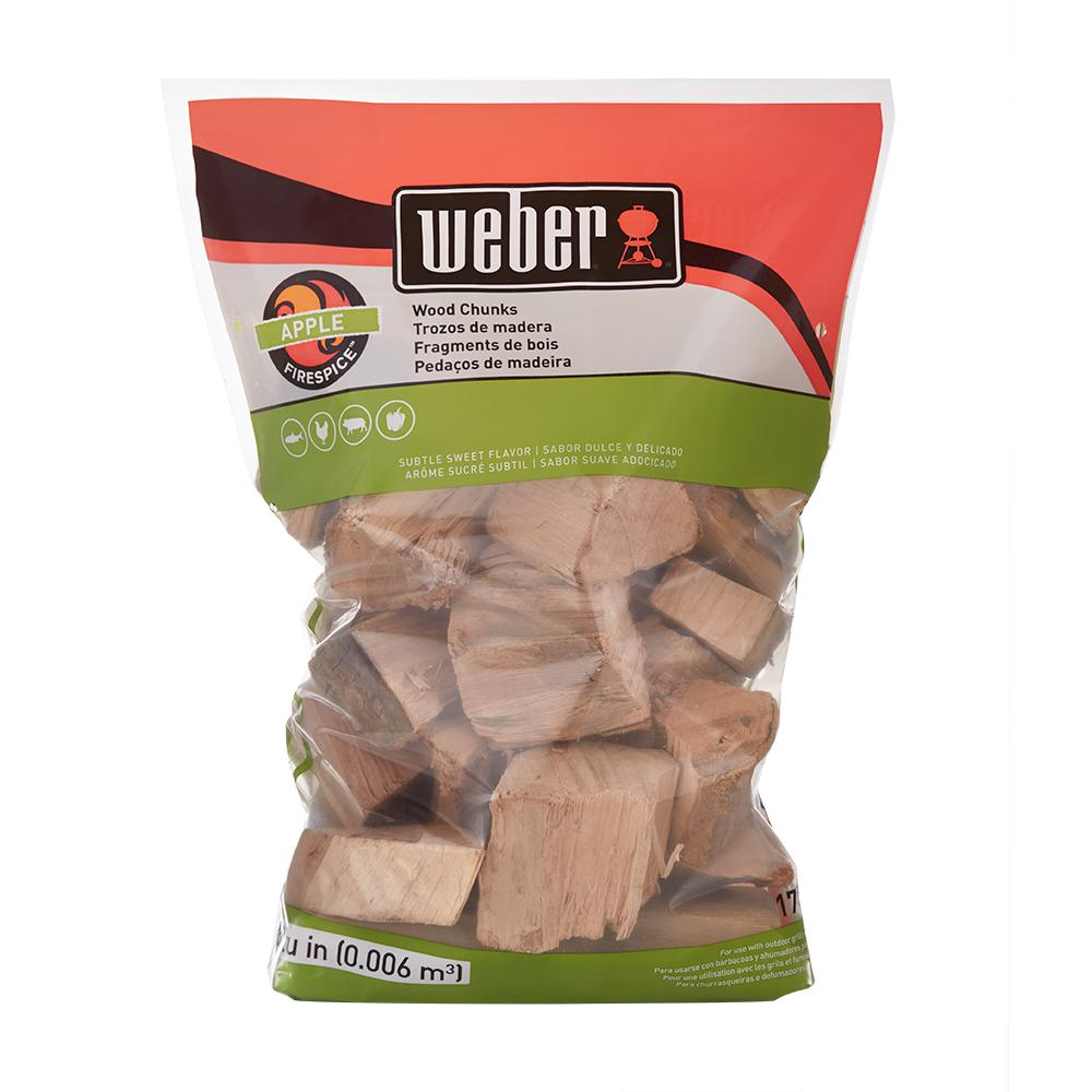 Weber Apple Wood Chunks 17139 The Home Depot