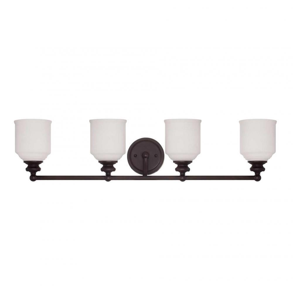 Massa 4-Light English Bronze Bath Vanity Light