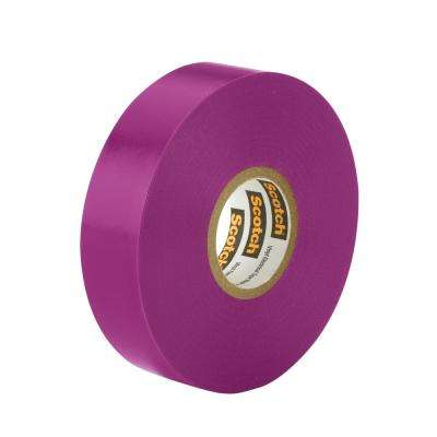 Scotch 3/4 in. x 66 ft. x 0.007 in. #35 Electrical Vinyl Tape, Violet (Case of 5)