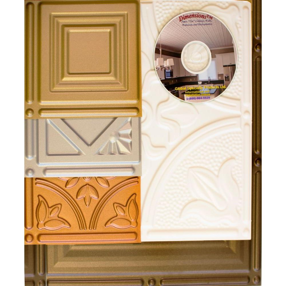 6 in. x 6 in. Tin Style Ceiling and Wall Tiles