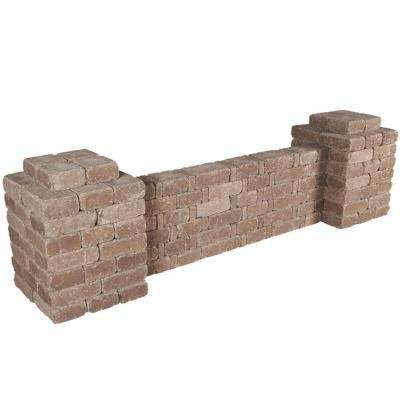 RumbleStone 103 in x 28 in. x 24.5 in. Column/Wall Kit in Cafe