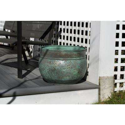 20 in. x 13 in. West Hose Pot in Blue Verde Key