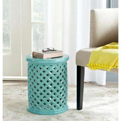 Isola Light Blue Garden Patio Stool