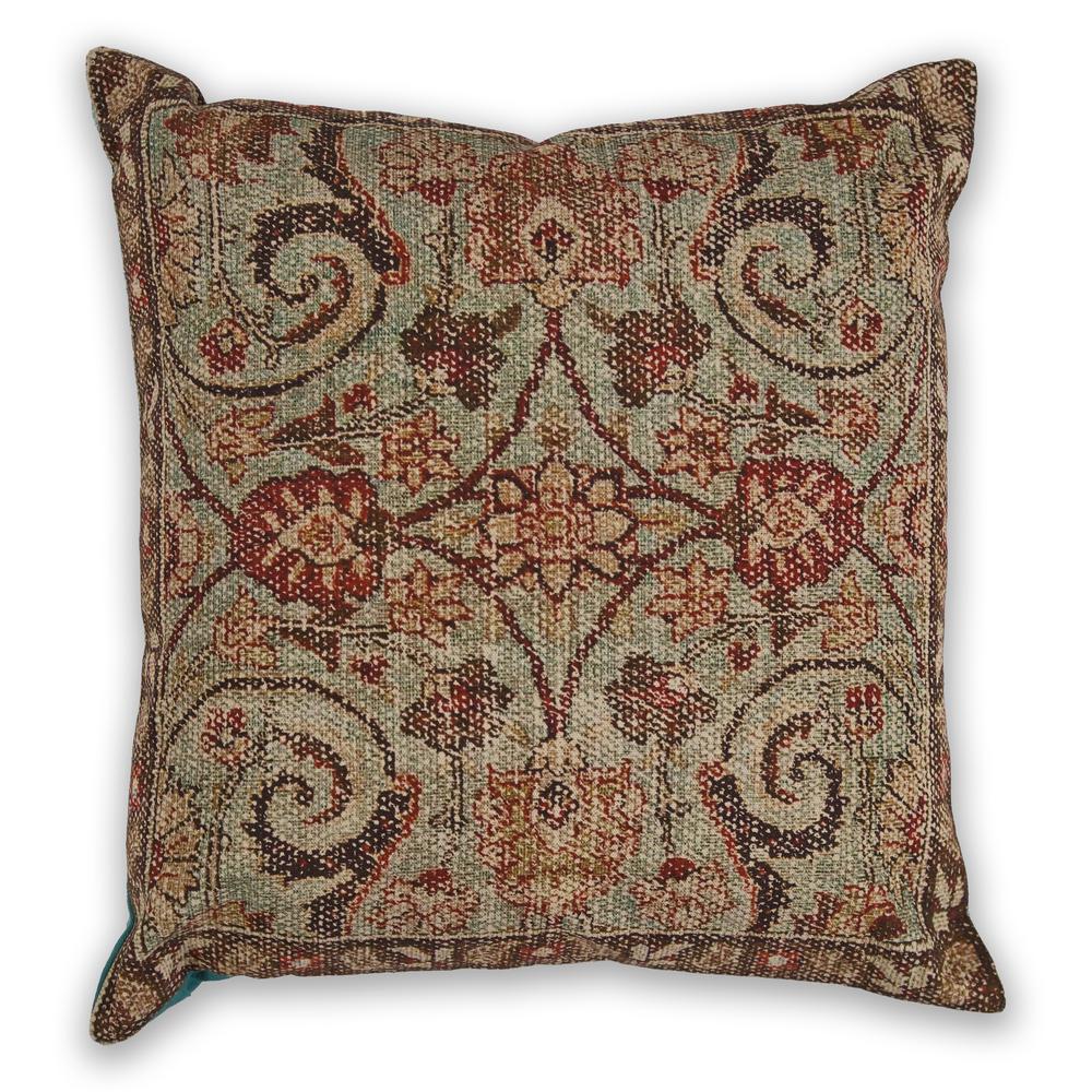Seafoam Casbah 18 in. x 18 in. Decorative Pillow