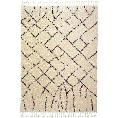 Nicole Miller Nepal Valley Ivory 5 ft. 2 in. x 7 ft. 2 in. Indoor Area Rug