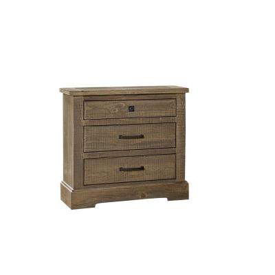 Meadow 3-Drawer Weathered Gray Nightstand