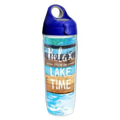 Relax Lake Time 24 oz. Clear Water Bottle