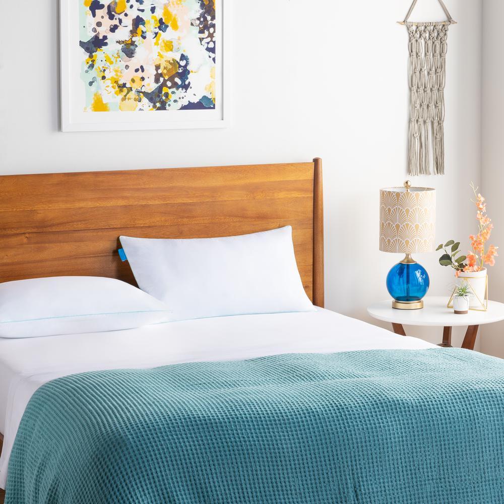 Linenspa Essentials Gel Encased Shredded Queen Memory Foam Pillow LZESQQGFSD