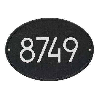 Hawthorne Modern Personalized Oval Wall Plaque